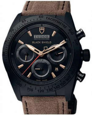 Tudor Fastrider Blackshield 42000CN Black Index Black Ceramic & Alacantra Leather Chronograph 42mm BRAND NEW