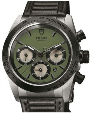 Tudor Fastrider Chronograph 42010N-Green Green Index Stainless Steel & Leather 42mm - BRAND NEW