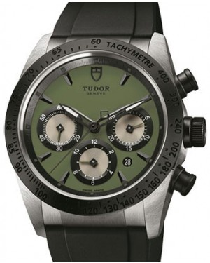Tudor Fastrider Chronograph 42010N-Green Green Index Stainless Steel & Rubber 42mm BRAND NEW