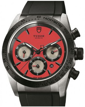 Tudor Fastrider Chronograph 42010N-Red Red Index Stainless Steel & Rubber 42mm BRAND NEW