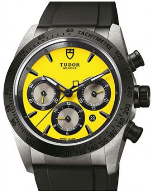 Tudor Fastrider Chronograph 42010N-Yellow Yellow Index Stainless Steel & Rubber 42mm BRAND NEW
