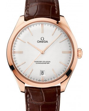 Omega De Ville Tresor Master Co-Axial 432.53.40.21.02.002 40mm Silver Opaline Index Sedna Gold Leather BRAND NEW
