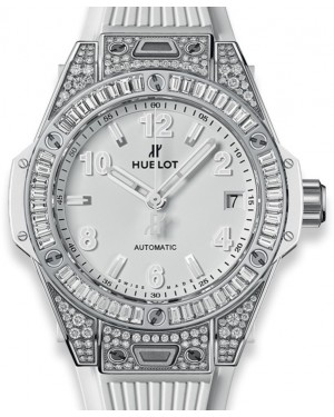 Hublot Big Bang One Click Steel White Jewellery 465.SE.2010.RW.0904 White Arabic / Index Diamond Bezel Stainless Steel Rubber 39mm - BRAND NEW