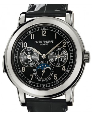 Patek Philippe 5074P-001 Grand Complications Day-Date Annual Calendar Moon Phase 42mm Black Arabic Platinum Automatic BRAND NEW