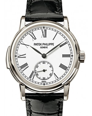 Patek Philippe 5078P-001 Grand Complications 38mm White Roman Platinum Leather Automatic BRAND NEW
