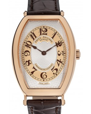 Patek Philippe 5098R-001 Gondolo 32 x 42mm Gold Guilloche Arabic Rose Gold Leather Manual BRAND NEW