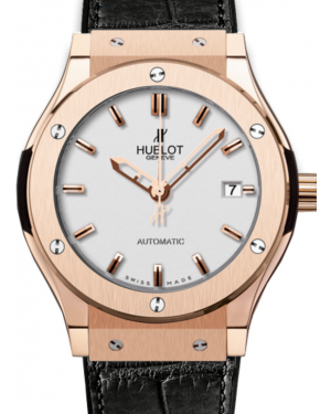 Hublot Classic Fusion 511.OX.2610.LR Silver Index Rose Gold & Leather 45mm BRAND NEW
