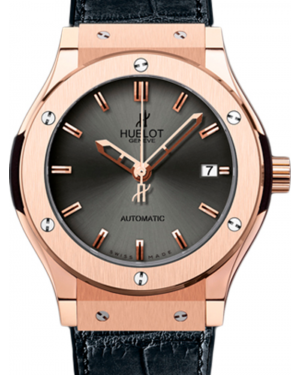 Hublot Classic Fusion 511.PX.7080.LR Silver Index Rose Gold & Leather 45mm BRAND NEW
