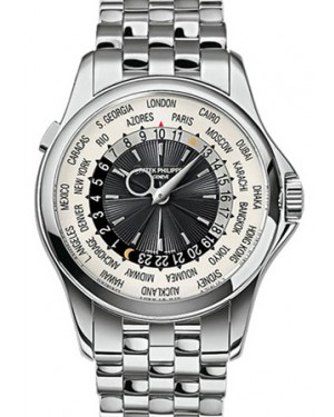 Patek Philippe 5130/1G-011 Complications World Time 39.5mm Silver White Gold Automatic BRAND NEW