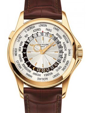 Patek Philippe 5130J-001 Complications World Time 39.5mm Silver Yellow Gold Automatic BRAND NEW