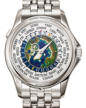 Patek Philippe Complications World Time Platinum Cloisonné 39.5mm Dial Bracelet 5131/1P-001 - BRAND NEW
