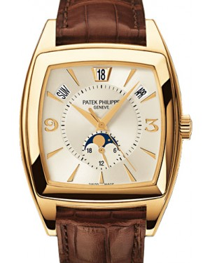 Patek Philippe 5135J-001 Gondolo Calendario Annual Calendar 38 x 51mm Silver Index Yellow Gold BRAND NEW