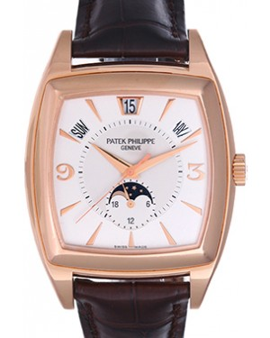 Patek Philippe 5135R-001 Gondolo Calendario Annual Calendar 38 x 51mm Silver Index Rose Gold BRAND NEW
