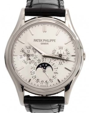 Patek Philippe 5140G-001 Grand Complications 37.2mm White Opaline Index White Gold Leather Automatic BRAND NEW