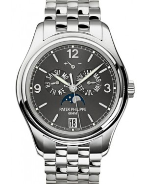 Patek Philippe 5146/1G-010 Complications Annual Calendar Moon Phase Date 39mm Slate Grey Arabic Index White Gold Automatic BRAND NEW