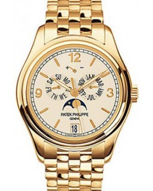 Patek Philippe 5146/1J-001 Complications Annual Calendar Moon Phase Date 39mm Cream Arabic Index Yellow Gold Automatic BRAND NEW