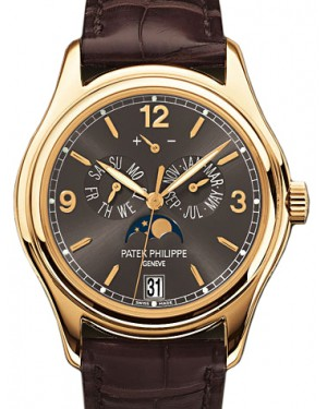 Patek Philippe Complications Annual Calendar Moon Phase Date Yellow Gold 39mm Slate Grey Arabic Index 5146J-010 - BRAND NEW