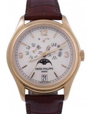 Patek Philippe Complications Annual Calendar Moon Phase Date Rose Gold 39mm Cream Dial 5146R-001 - BRAND NEW