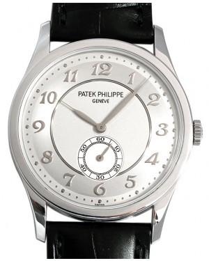 Patek Philippe Calatrava Small Seconds Manual Wind Platinum 37mm Silver Dial Leather Strap 5196P-001 - BRAND NEW