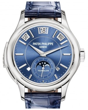Patek Philippe Grand Complications 5207G-001 Blue Sunburst Index White Gold Leather 41mm - BRAND NEW