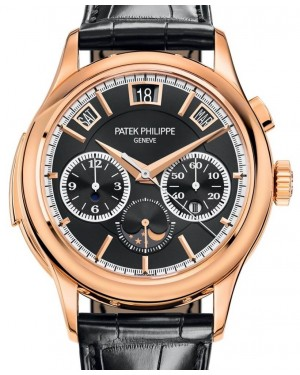 Patek Philippe Grand Complications 5208R-001 Black Sunburst Index Rose Gold Leather 42mm - BRAND NEW