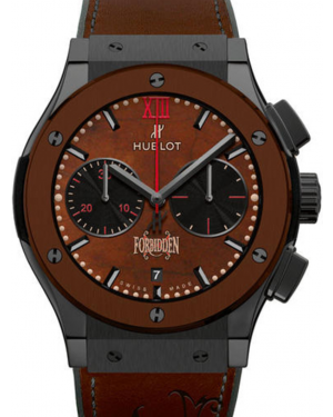 Hublot Classic Fusion Chronograph 521.CC.0589.VR.OPX14 Brown Index Fixed Ceramic Bezel & Case Leather 45mm BRAND NEW
