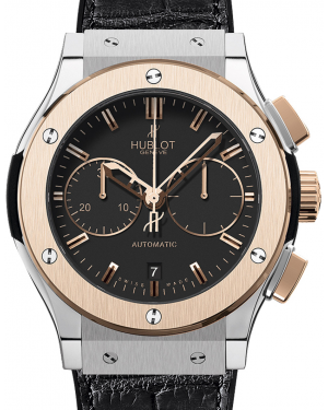Hublot Classic Fusion Chronograph 521.NO.1180.LR Black Index Rose Gold & Titanium Rubber 45mm BRAND NEW