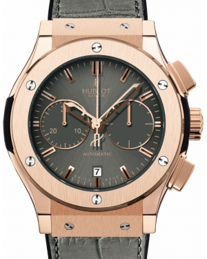 Hublot Classic Fusion Chronograph 521.OX.7080.LR Grey Index Rose Gold & Leather 45mm BRAND NEW