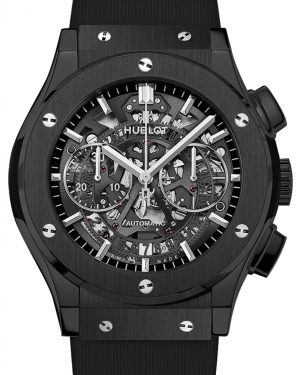 Hublot Classic Fusion Aerofusion 525.CM.0170.RX Skeleton Index Black Ceramic & Rubber 45mm BRAND NEW