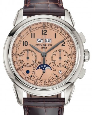 Patek Philippe Grand Complications 5270P-001 Golden Opaline Arabic Platinum Leather 41mm - BRAND NEW