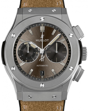 Hublot Classic Fusion Chronograph 537.NI.7417.VR Bronze Index Titanium & Leather 45mm BRAND NEW