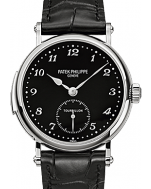 Patek Philippe 5539G-001 Grand Complications 37mm Black Arabic White Gold Leather Manual BRAND NEW