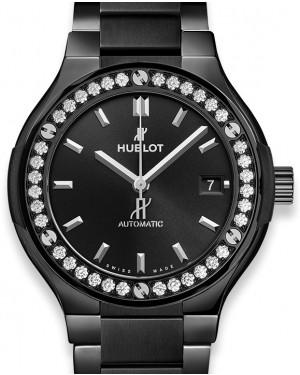 Hublot Classic Fusion Black Magic Bracelet Diamonds 568.CM.1470.CM.1204 Black Index Diamond Bezel Ceramic 38mm - BRAND NEW