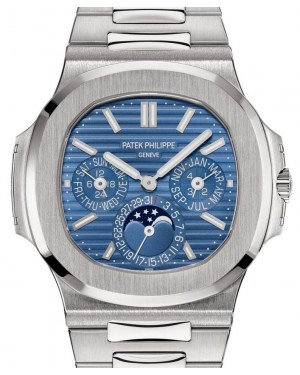 Patek Philippe Nautilus Perpetual Calendar White Gold 40mm Blue Dial Bracelet 5740/1G-001 - BRAND NEW