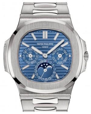 Patek Philippe Nautilus Perpetual Calendar White Gold 40mm Blue Dial Bracelet 5740/1G-001 - PRE-OWNED