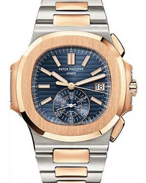 bdfb59a38a1 Patek Philippe 5980/1AR-001 Nautilus 40.5mm Blue Gradient Index Chronograph  Stainless Steel ...