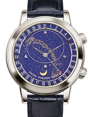 Patek Philippe 6102P-001 Grand Complications Perpetual Calendar Chronograph 44mm Blue Sky Chart Platinum Leather Automatic BRAND NEW