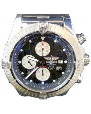 Breitling Super Avenger A13370 Chronograph Stainless Steel Black Arabic XL 48mm Pro 2
