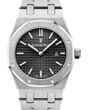 Audemars Piguet 67650ST.OO.1261ST.01 Royal Oak Quartz Ladies 33mm Black Index Stainless Steel - BRAND NEW