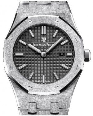 Audemars Piguet Royal Oak Frosted Gold Quartz 67653BC.GG.1263BC.02 Black Index White Gold 33mm - BRAND NEW