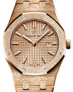 Audemars Piguet Royal Oak Frosted Gold Quartz 67653OR.GG.1263OR.02 Pink Index Pink Gold 33mm - BRAND NEW