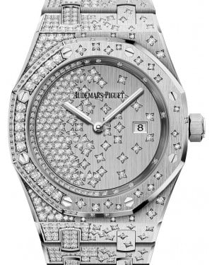 Audemars Piguet Royal Oak Quartz 67654BC.ZZ.1264BC.01 Diamond Set White Gold 33mm Quartz - BRAND NEW