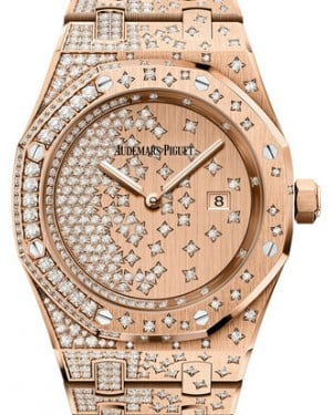 Audemars Piguet Royal Oak Quartz 67654OR.ZZ.1264OR.01 Diamond Set Rose Gold 33mm Quartz - BRAND NEW