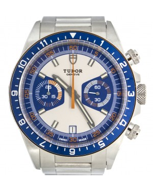 Tudor Heritage Chronograph 70330B-95740 Blue & Silver Index Stainless Steel 42mm