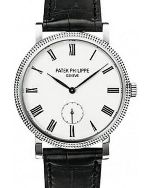 Patek Philippe 7119G-010 Calatrava Ladies 31mm Ivory Roman Hobnail White Gold Leather Manual BRAND NEW