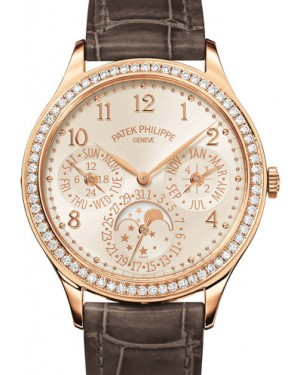 Patek Philippe 7140R-001 Grand Complications Ladies Perpetual Calendar 35.1mm White Opaline Arabic Diamond Bezel Rose Gold Manual BRAND NEW
