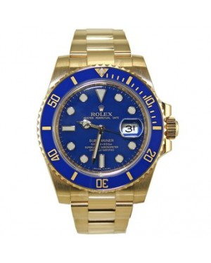 Rolex Submariner 116618LB Ceramic Blue 18k Yellow Gold - PRE-OWNED
