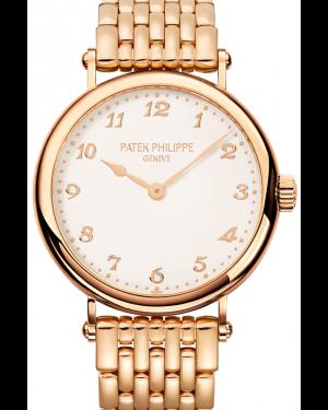 Patek Philippe 7200/1R-001 Calatrava Ladies 34.6mm Ivory Arabic Rose Gold BRAND NEW