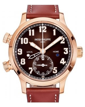 Patek Philippe Complications Calatrava Pilot Travel Time Rose Gold 37.5mm Brown Dial 7234R-001 - BRAND NEW