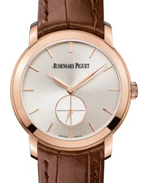 Audemars Piguet 77238OR.OO.A088CR.01 Jules Audemars Small Seconds 33mm Silver Index Rose Gold Leather BRAND NEW